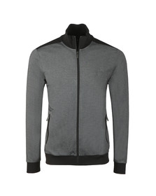 BOSS Loungewear Mens Grey Full Zip Contrast Track Jacket