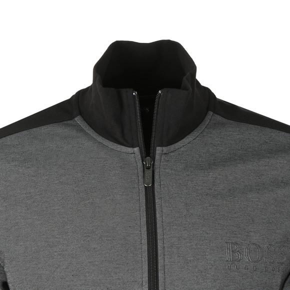 BOSS Mens Grey Full Zip Contrast Track Jacket main image