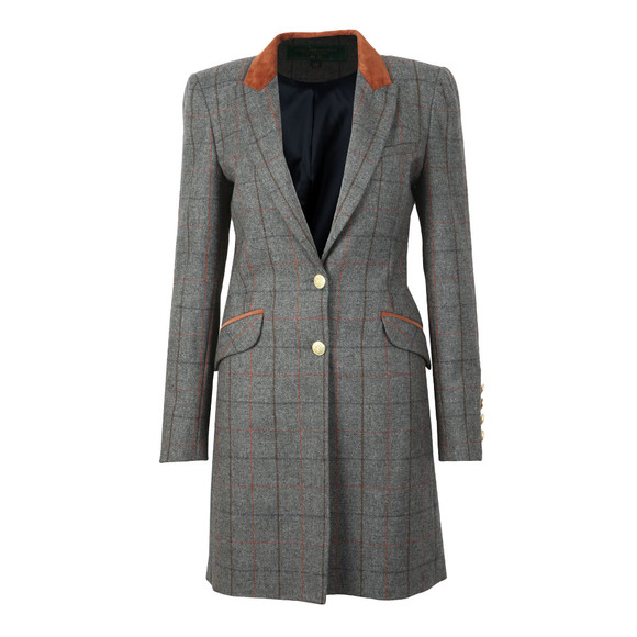Holland Cooper Womens Blue Kempton Coat main image