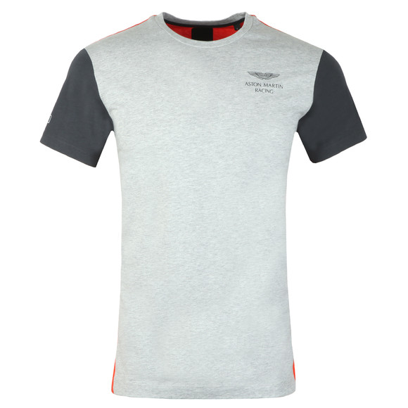 Hackett Mens Grey S/S AMR Multi Tee main image