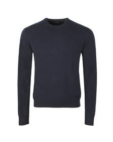 Hackett Mens Blue Lambswool Crew Jumper
