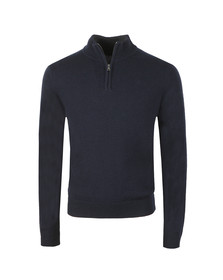Hackett Mens Blue Lambswool Half Zip Jumper