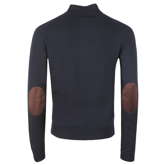 Hackett Mens Blue Lambswool Half Zip Jumper main image