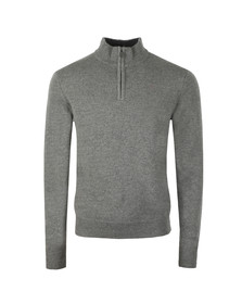 Hackett Mens Grey Lambswool Half Zip Jumper