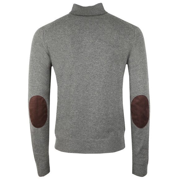 Hackett Mens Grey Lambswool Half Zip Jumper main image