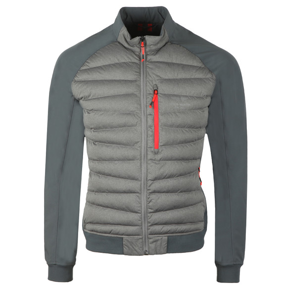 Hackett Mens Grey AMR Hybrid Jacket main image