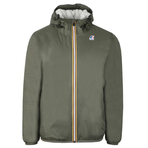 K-Way Mens Green Le Vrai Claude Orsetto Fleece Lined Jacket main image