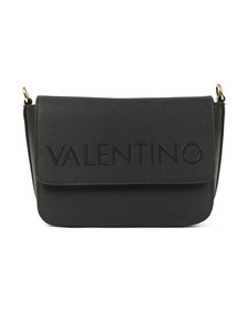 Valentino by Mario Womens Black Magnolia Small Satchel