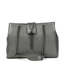 Valentino by Mario Womens Silver Marilyn Tote Bag