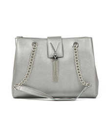 Valentino by Mario Womens Silver Marilyn Mid Tote
