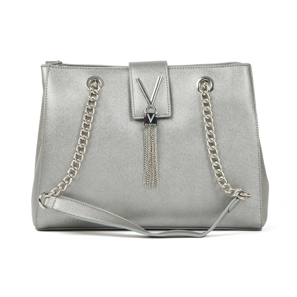 Valentino by Mario Womens Silver Marilyn Mid Tote main image