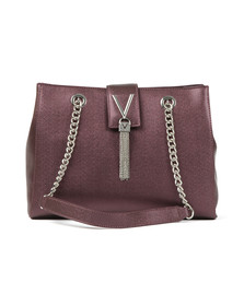 Valentino by Mario Womens Purple Marilyn Tote Bag