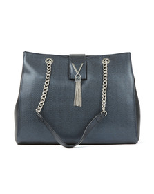 Valentino by Mario Womens Blue Marilyn Large Tote