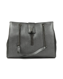 Valentino by Mario Womens Grey Marilyn Large Tote