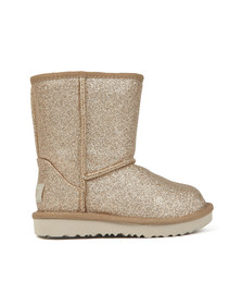 Ugg Girls Gold Kids Classic Short Glitter Boot