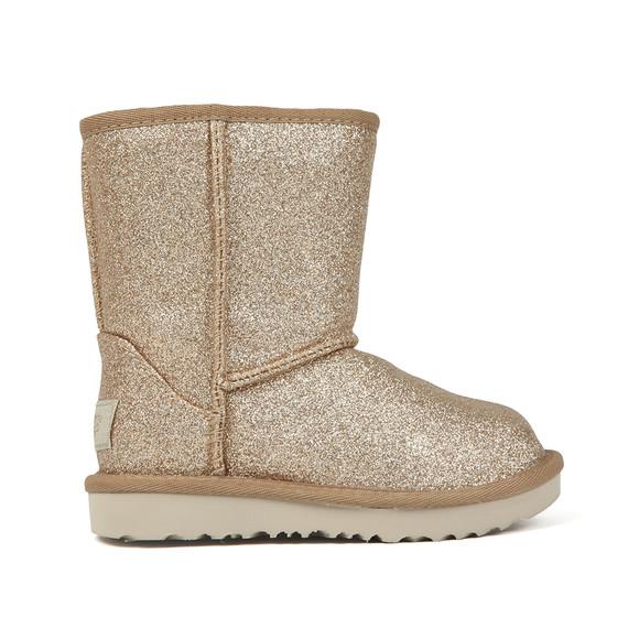 Ugg Girls Gold Kids Classic Short Glitter Boot