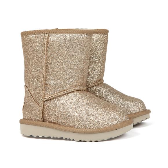 Ugg Girls Gold Kids Classic Short Glitter Boot main image