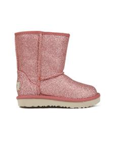 Ugg Girls Pink Kids Classic Short Glitter Boot