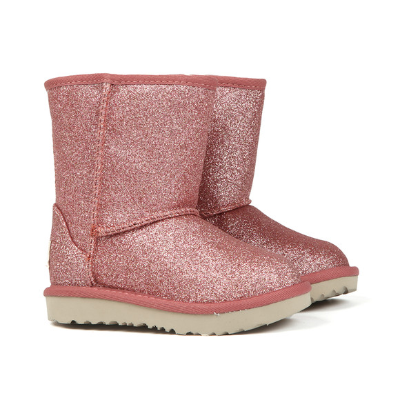 Ugg Girls Pink Kids Classic Short Glitter Boot main image