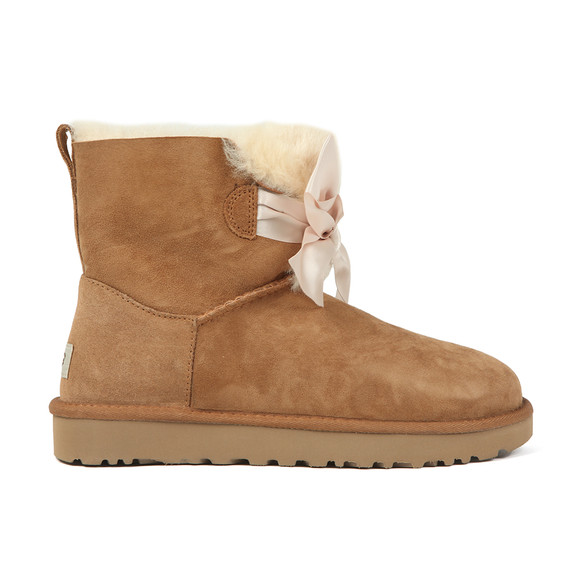 Ugg Womens Brown Gita Mini Bow Boot