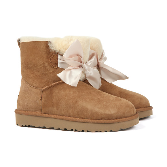 Ugg Womens Brown Gita Mini Bow Boot main image