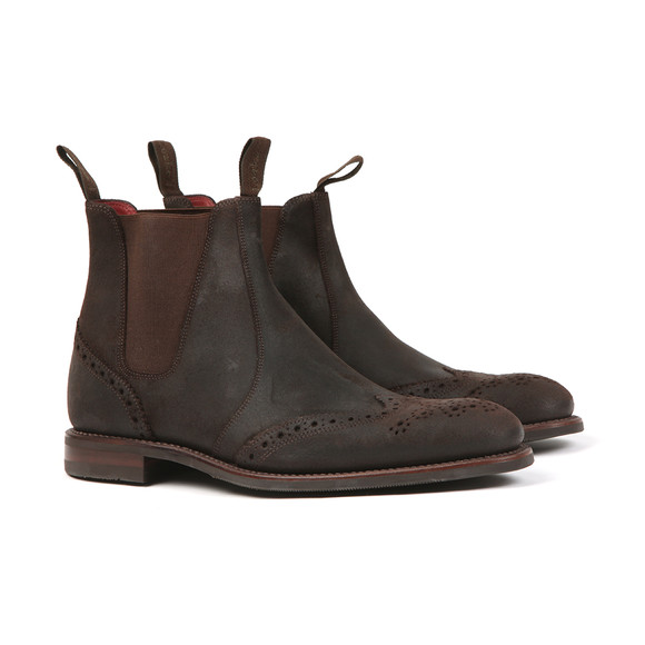 Loake Mens Brown Hoskins Waxed Suede Boot