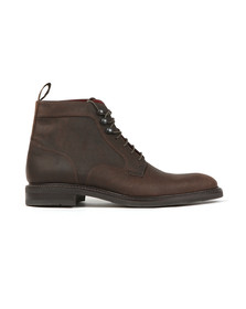 Loake Mens Brown Crow Waxed Suede Boot