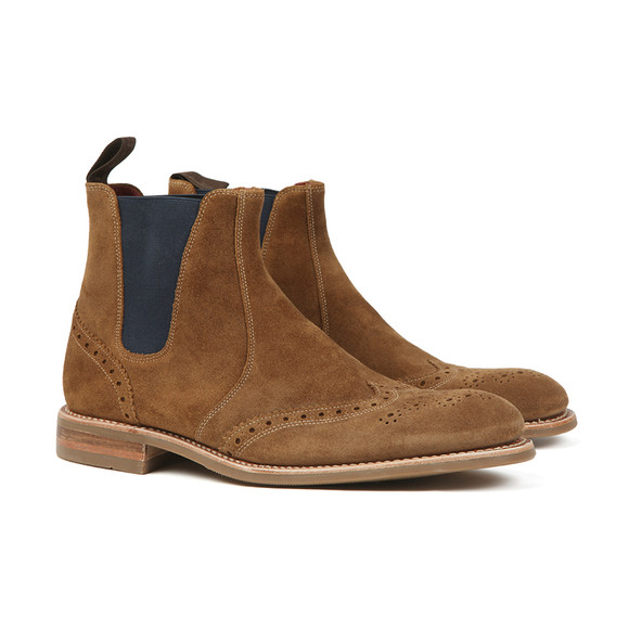 Loake Mens Brown Hoskins Suede Boot main image