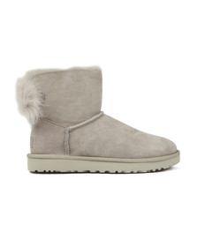 Ugg Womens Grey Fluff Bow Mini Boot