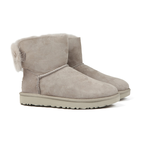 Ugg Womens Grey Fluff Bow Mini Boot main image