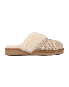 Ugg Womens Off-white Cozy Knit Slipper