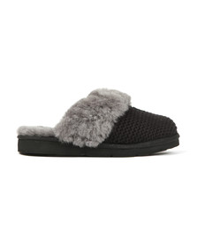 Ugg Womens Black Cozy Knit Slipper