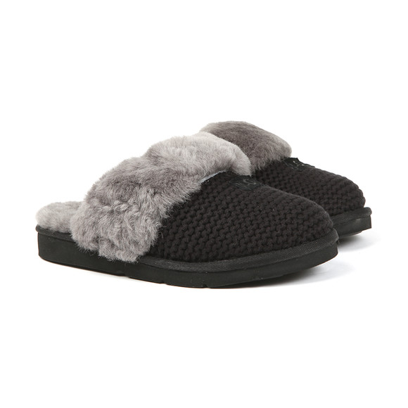 Ugg Womens Black Cozy Knit Slipper main image