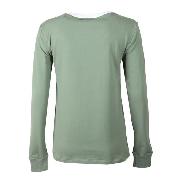 adidas Originals Womens Green 3 Stripes Long Sleeve T Shirt main image