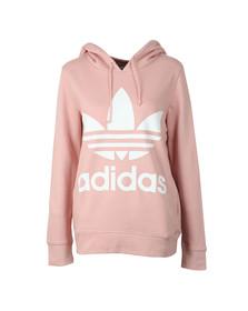 adidas Originals Womens Pink Trefoil Logo Hoody