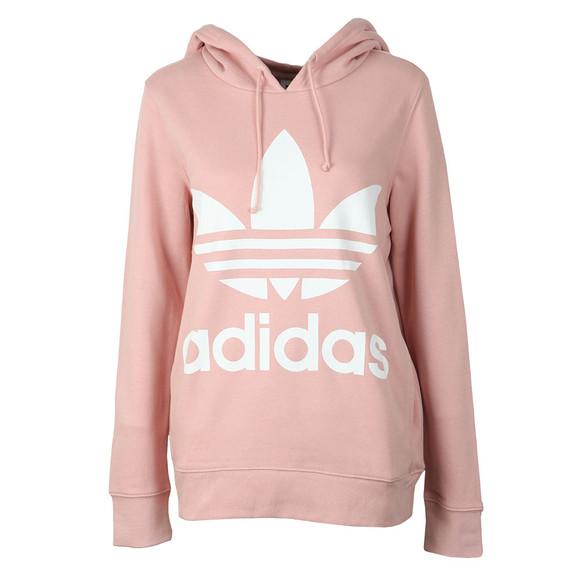 Adidas Originals Womens Pink Trefoil Logo Hoody main image