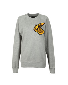 Vivienne Westwood Anglomania Womens Grey Classic Sweatshirt With Patch