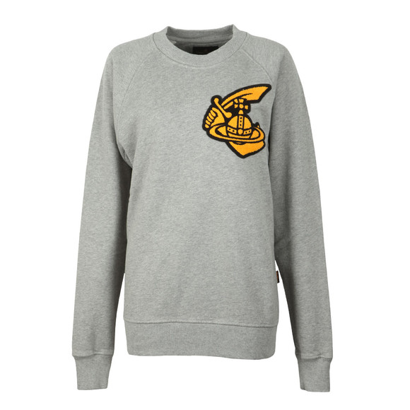 Vivienne Westwood Anglomania Womens Grey Classic Sweatshirt With Patch main image