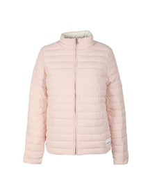 Calvin Klein Jeans Womens Pink Reversible Down Puffer Jacket