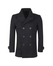 Superdry Mens Blue New Merchant Pea Coat