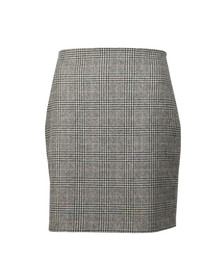 Holland Cooper Womens Grey Chelsea Check Mini Skirt