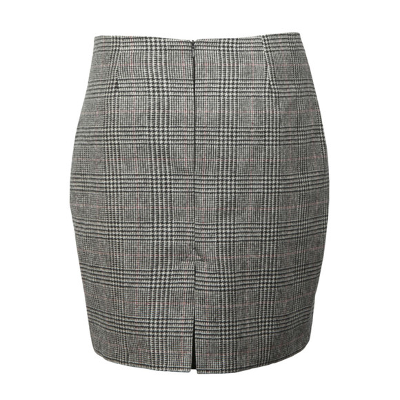 Holland Cooper Womens Grey Chelsea Check Mini Skirt main image