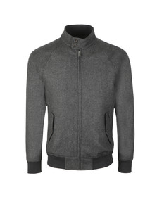Ben Sherman Mens Grey Wool Harrington