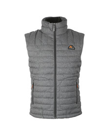 Superdry Mens Grey Double Zip Tweed Fuji Vest