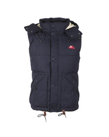 Superdry Mens Blue New Academy Gilet