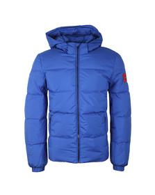 Calvin Klein Mens Blue Hooded Down Jacket