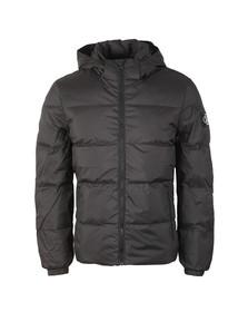 Calvin Klein Mens Black Hooded Down Jacket