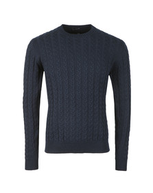 Weekend Offender Mens Blue Monzon Cable Jumper