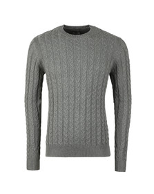 Weekend Offender Mens Grey Monzon Cable Jumper