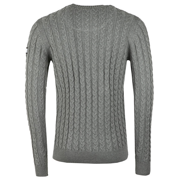 Weekend Offender Mens Grey Monzon Cable Jumper main image